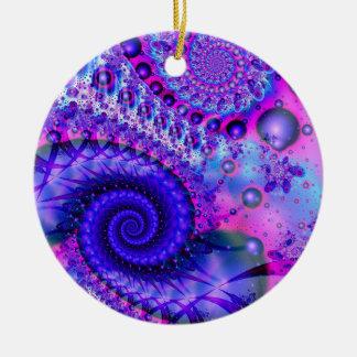 Swirly Pink and Purple Christmas Tree Ornament