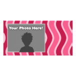 Swirly Pink Striped Picture Card