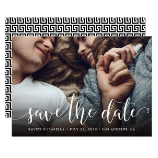 Swirly Save The Date Announcement
