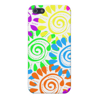 Swirly Sunshine Flowers iPhone 5/5S Covers