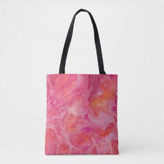 Swirly Tropical Pink Watercolor Tote Bag
