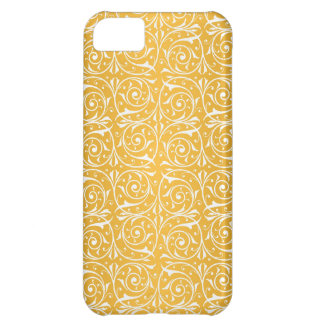 Swirly Vines in Yellow Pattern Cover For iPhone 5C