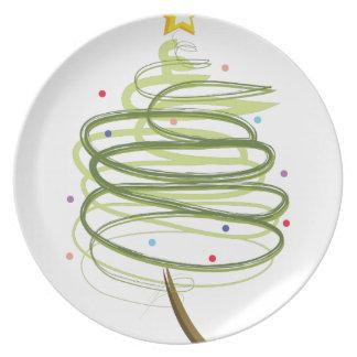 Swirly Xmas Tree Plate
