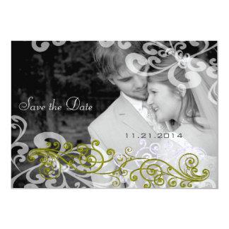Swirly Your Photo Wedding Invitation