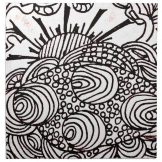 swirlysun napkin