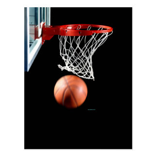 Swish, Basketball through the Net. Postcard