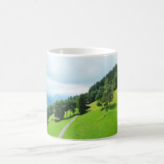 Swiss alps in summer coffee mug