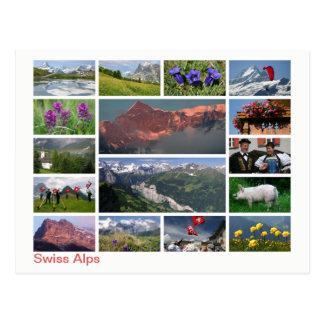 Swiss Alps multi-image Postcard