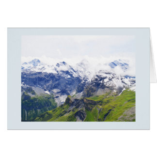 Swiss alps scene card