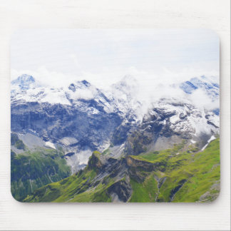 Swiss alps scene mouse pad