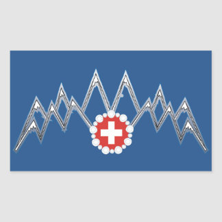 Swiss Alps Sticker. Rectangular Sticker