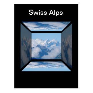 Swiss Alps with Clouds by Celeste Sheffey Postcard