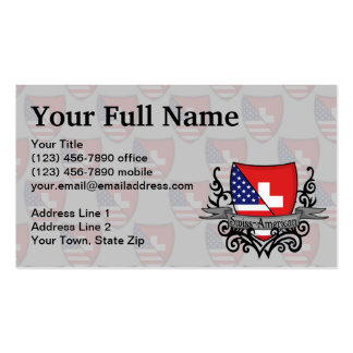 Swiss-American Shield Flag Double-Sided Standard Business Cards (Pack Of 100)