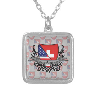 Swiss-American Shield Flag Necklace
