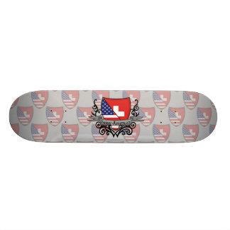 Swiss-American Shield Flag Skate Decks