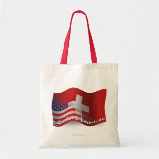 Swiss-American Waving Flag Budget Tote Bag