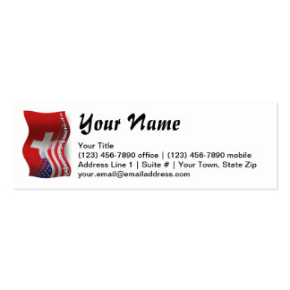 Swiss-American Waving Flag Pack Of Skinny Business Cards