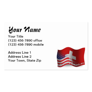 Swiss-American Waving Flag Pack Of Standard Business Cards