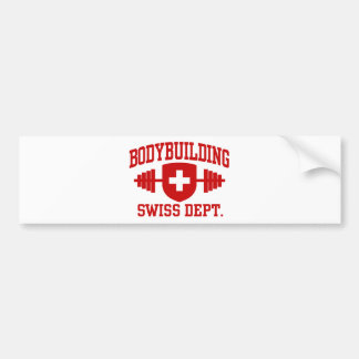 Swiss Bodybuilding Bumper Sticker