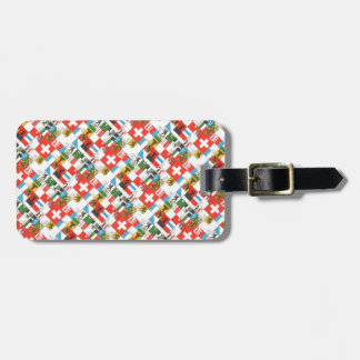 Swiss cantonial flags luggage tag