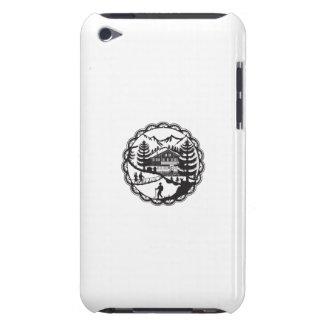Swiss Chalet Alpine Hiker Decoupage iPod Touch Cases