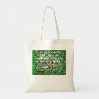 Swiss Chard Garden Plotting and Resisting Trump Tote Bag