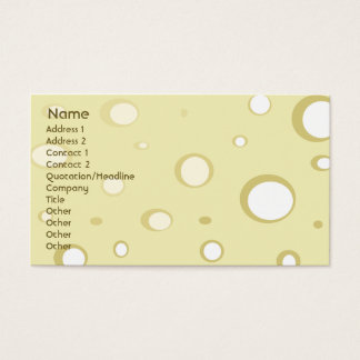 Swiss Cheese - Business Business Card