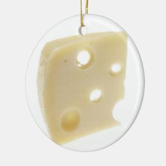 Swiss Cheese Ceramic Ornament