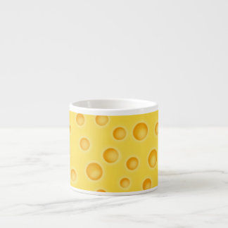 Swiss Cheese Cheezy Texture Pattern Espresso Cup