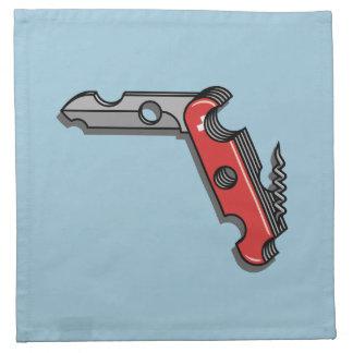 Swiss Cheese Knife Printed Napkin