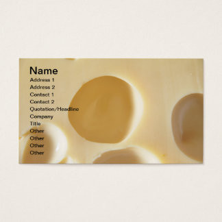 SWISS CHEESE SURFACE TEXTURE CREAM  CIRCLES HOLES BUSINESS CARD