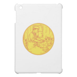 Swiss Cheesemaker Traditional Cheese Circle Drawin iPad Mini Cover