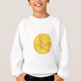 Swiss Cheesemaker Traditional Cheese Circle Drawin Sweatshirt
