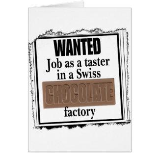 Swiss Chocolate Card
