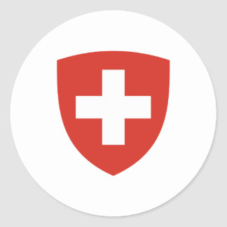 Swiss Coat of Arms Shield Classic Round Sticker