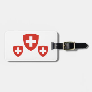 Swiss Coat of Arms Shield Luggage Tag