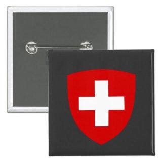 Swiss Coat of Arms - Switzerland Souvenir 15 Cm Square Badge