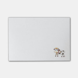 Swiss cow post-it notes
