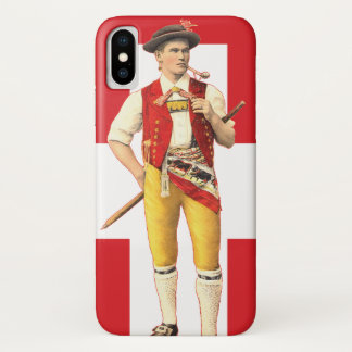 Swiss Cowboy from Appenzell in Traditional Costume iPhone X Case