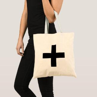 Swiss cross fabric bag