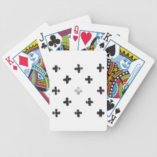 Swiss Cross Pattern Bicycle Playing Cards