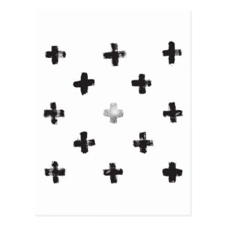 Swiss Cross Pattern Postcard
