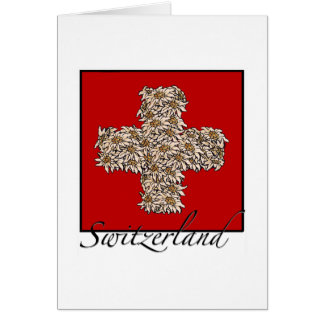 Swiss Edelweiss Cross Card