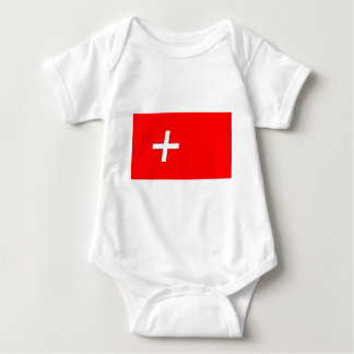 swiss-Flag Baby Bodysuit