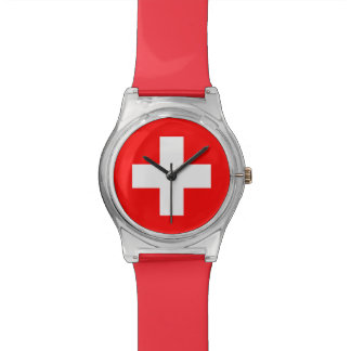 Swiss Flag - I Love Switzerland Watch