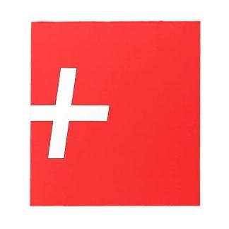 swiss-Flag Notepad