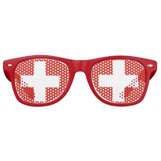 Swiss Flag Part Glasses