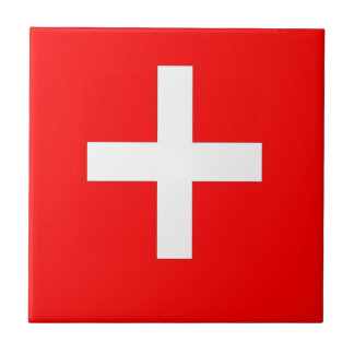 Swiss Flag Small Square Tile