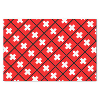 Swiss Flag Tissue Paper