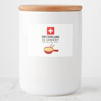 Swiss Fondue Funny Food Label